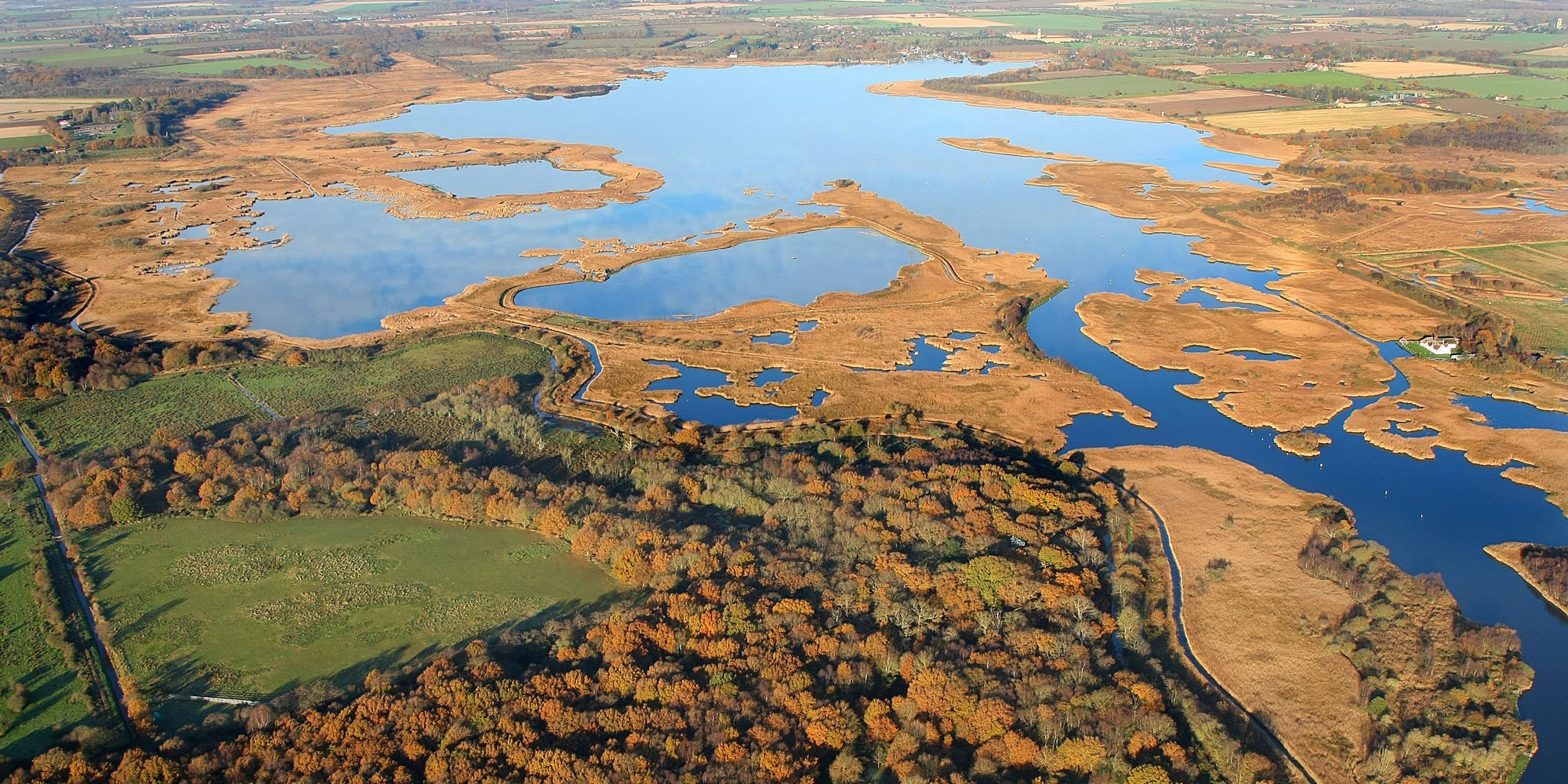 Aerial view of the Broads