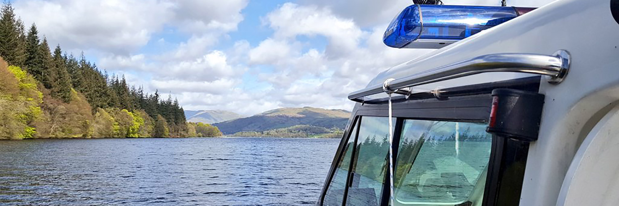 Aboard the Lake District ranger boat